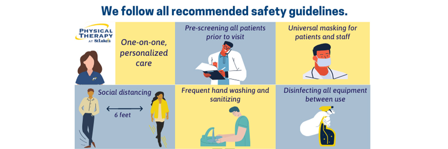 We follow all recommended safety guidelines.